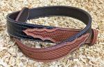 Westerngürtel - Punziertes Leder mit Croc-Inlay