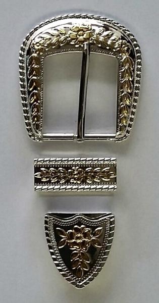 buckle set 3 teilig Blattdesign